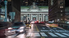 Grand Central Time Lapse (Michael.Lee.Pics.NYC) Tags: newyork grandcentralterminal parkavenue night holiday christmas 2016 architecture traffic video timelapse cars flow motion sony a7rm2 nikon nikkor50mmaf18d
