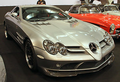 SLR (Schwanzus_Longus) Tags: essen motorshow motor show new modern car vehicle coupe coupé silver mercedes benz mclaren mc laren slr