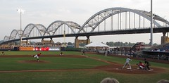Modern Woodmen Park, Davenport (Iowa), 19 August 2010 (milanite) Tags: baseball bridges iowa mississippiriver ballparks minorleagues midwestleague centennialbridge davenportiowa modernwoodmenpark quadcitiesriverbandits scottcountyiowa