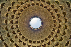 The Pantheon dome (Captain Blackadder) Tags: city travel italien italy rome roma church architecture geotagged nikon europe italia pantheon rom hdr d700 afsnikkor28300mmf3556gedvr