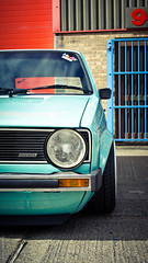"""Day 216/365 - """"StanceWorks"""" (peachyboii) Tags: old portrait green car vw vintage project volkswagen lights day diesel sony low motor 365 flush alpha polo lowered slammed lightroom a55 fitment sonyphotographing stanceworks"""