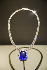 Bismarck Sapphire Necklace (afagen) Tags: museum washingtondc smithsonian dc washington jewelry diamond naturalhistorymuseum sapphire nationalmuseumofnaturalhistory necklance