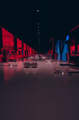 Place (joshmonk) Tags: blue red bar turkey dark table lights hotel evening spring nikon asia may wideangle tokina indoors antalya ultrawide f28 cutlery 1116 2013 atxpro tablewear 1116mm dxii d7000 hotelsu