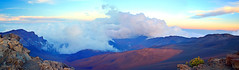 Haleakala National Park, Maui, Hawaii (Sergii Kyrychenko) Tags: park blue sunset sky white mountains yellow clouds hawaii maui national haleakala valley hi