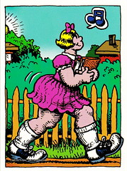 R. Crumb Trading Cards - Sally Blubberbutt (oerendhard1) Tags: art robert illustration comics underground cards comic drawing humor cartoon sally collection trading comix characters crumb rcrumb stripverhaal undergroundcomics stripfiguur blubberbutt oerendhard