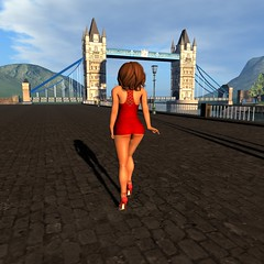 Keeley Snowfall Tower Bridge 1024x1024 (Don Roodborst) Tags: woman hot sexy ass beautiful butt babe sl secondlife hottie pornstar