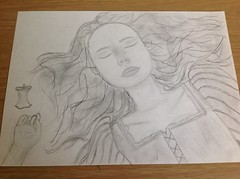 Pencil drawing of snow white from the film snow white and the huntsman (RainbowPaint1000) Tags: art sketch pencildrawing snowwhiteandthehuntsman