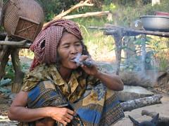 Lao-Kreung woman in Ratanakiri, Cambodia (mbphillips) Tags: cambodia mbphillips canonixus400