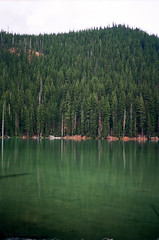(andybokanev) Tags: mountain lake oregon 35mm bend canoe alpine elklake canonat1 ektar100