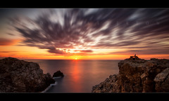 New Beginnings (scott masterton) Tags: longexposure light sunset espaa yoga scott spain mediterranean pentax sigma lookout punta meditation mm nati 1020 islas menorca fascinating baleares masterton balearics nd400 k30 ndx400