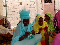 Mauritania knitting training session (CLWR1) Tags: kits quilts mauritania shipment wecare wecarekits