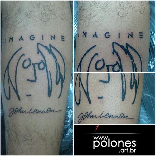 Polonesart Tattoos Tatuaje Imagine Johnlennon Thebeatles A Photo On Flickriver