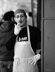 Hmmm (Jackx001) Tags: street portrait blackandwhite toronto canada photography chinatown market kensington tpastreet jacknobre