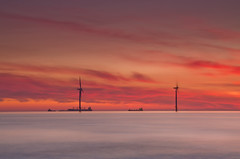 Sunrise at Redcar windfarm 1 (paul downing) Tags: summer sunrise nikon filters hitech windfarm redcar 0609 gnd coastaluk pd1001 d7000 pauldowning pauldowningphotography