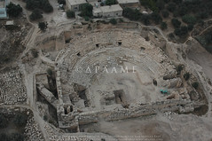 Beit Ras/ Capitolias (APAAME) Tags: beitras capitolias flight2 flying2006 jadis2322001 megaj2760 roman theatre city digitalcamera pleiades:depicts=678224 aerialarchaeology aerialphotography middleeast airphoto archaeology ancienthistory