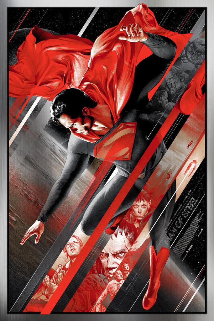 Mondo - 超人:鋼鐵英雄 網版印刷海報