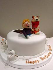 Calvin & Hobbes Cake (bespoke cakes by rosie) Tags: cake calvin birthdaycake hobbes sugarmodelling