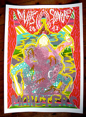 NEW PRINT - The Monsters Gigposter (silio-durt) Tags: music art colors monster screenprint punk drawing garage silkscreen psyche rael gigposter
