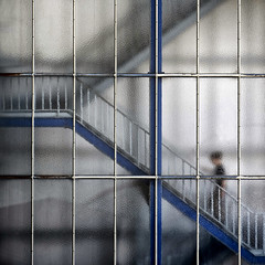 """Step-By-Step"" (helmet13) Tags: urban woman blur silhouette stairs office raw lunchtime menschen treppe staircase stadt hungry bro unscharf lunchroom mittagessen lattice kantine gettyimages froste"