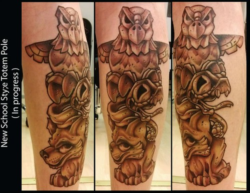 Owl Totem Pole Tattoo Totem Pole Tattoo