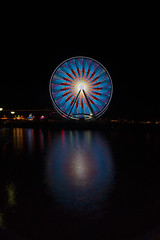 Light Show (Pontemonti) Tags: seattle longexposure waterfront ferriswheel ndfilter seattlewaterfront greatwheel neutraldensityfilter singhrayvarind singhrayvariableneutraldensityfilter sal24f20z seattlegreatwheel sonya99 sonyslta99v slta99v slta99 sonyslta99 sony24mmf2zassm sonysal24f20z carlzeiss24mmf20ssm