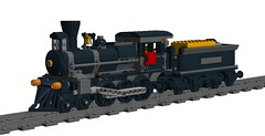 Pirate Train 4-6-0 Locomotive & Tender (TF Twitch) Tags: west train power lego caboose pirate captain western locomotive function pf buccaneer 460
