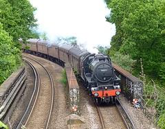 Steam To Margate (Deepgreen2009) Tags: bridge tour rail railway trains steam special straight curved margate conductor blackfive croftonpark uksteam