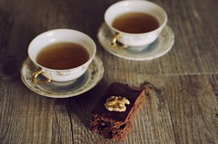 Waiting for Autumn. (Laura Ascari) Tags: wood autumn food cold home kitchen cake afternoon tea chocolate nuts september foodstyling lauraascari