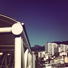 instagram / ~ (junniorkopke) Tags: city bridge brazil sky mountain riodejaneiro buildings square christtheredeemer squareformat 1977 iphoneography instagram instagramapp uploaded:by=instagram foursquare:venue=4bd6ae6c5631c9b66c33a630