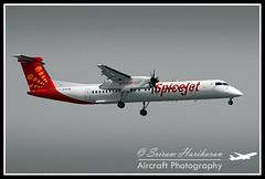 """Spicejet De Havilland DHC-8-402Q Dash 8 VT-SUK """"Sarson"""" (Sri_AT72 (Sriram Hariharan Photography)) Tags: del aviation delhi newdelhi dash8 dehavilland sarson planespotting spicejet q400 4398 igiairport aviationphotography dhc8402q delhiairport vtsuk airsidespotting"""
