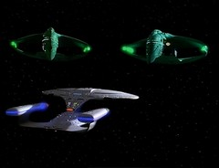 Romulan Warbirds and the USS Enterprise NCC-1701-D (Guardian Screen Images) Tags: show fiction trek star tv war ship d space battle science class next galaxy empire scifi imperial series spaceship battleship enterprise ncc generation cruiser uss episode warbird commander warship starship ncc1701d romulan the battlecruiser 1701 enterprised irw dderidex