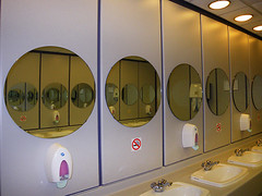 Three In One (Kombizz) Tags: reflection mirrors toilet 3in1 sinks a131 liquidsoap aov threeinone roundmirrors nosmokingsigns kombizz liquidsoapdispensers pinkliquidsoap