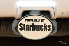 Caffeine Is My Friend! (R Childress) Tags: bumper starbucks receiverhitch