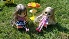 Miss Kenner and Madison love being outside.