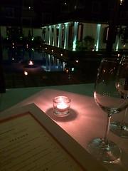 DINNER (Himash De Silva) Tags: light love pool dinner menu lights glasses candles candle wine low romantic srilanka uga iphone 5s residencies