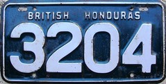 British Honduras 50' Commercial License Plate * (Suko's License Plates) Tags: london plaque america european unitedkingdom tag plate licenseplate license placa patente centralamerica targa centroamerica matricula kennzeichen immatriculation targhe numbertag nummerschild britishhonduras plaqueimmatriculation