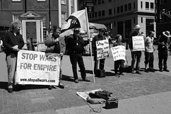 Stop Wars for Empire (Geoff Reno) Tags: street city people urban boston fuji marathon protest common bostonstrong x100t