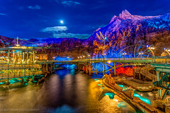Moonrise at Vulcania Lagoon (Duyap92) Tags: disneysea japan island tokyo mt mysterious prometheus
