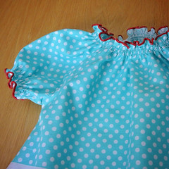 Easy Peasy Peasant Dress for Baby (picperfic) Tags: baby ruffles child dress sewing frill gatheres shirring tiedyediva