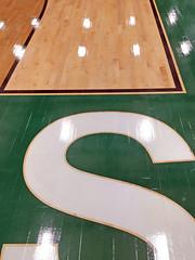 Gym floor graphics (SteveMather) Tags: gymnasium gym maple hardwood floor flooring graphics cleveland northeast ohio oh elementary middle school new