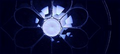 a bit of bulb on blue (margeois) Tags: abstract stg blue stainedglass nakedbulb minimalism