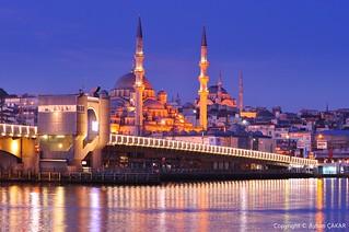 Sunrise Galata Bridge İstanbul