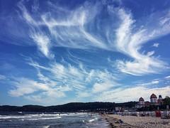 .painted sky. (zonenfred) Tags: instagramapp square squareformat iphoneography uploaded:by=instagram xproii binz rgen ruegen inselrgen ostsee balticsea strand beach bluesky sunnyday cloudporn summer