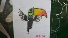alm... (colourourcity) Tags: streetartaustralia australia melbourne burncity awesome colourourcity streetart graffiti nofilters art melbournestreetart graffitimelbourne alm calm toucan wheatpaste pasteup postbox postal