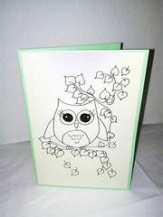 Greeting Card Owl (NiRoGiftsandDeco) Tags: handdrawn greetingcard greeting card owl love drawing handmade message papercraft paper awesome