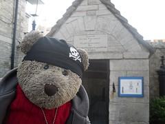 Jailhouse Rock! (pefkosmad) Tags: tedricstudmuffin teddy bear ted piddletrenthide dorset england uk cute cuddly soft stuffed toy travel fluffy plush holiday vacation vacances holibobs seaside swanage tourism exploring beach gaol prison jail