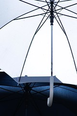 White Umbrella (haberlea) Tags: france saumur umbrella white blue metal
