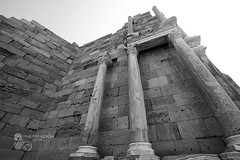 The effects of Leptis Magna (Azaga ツ) Tags: آثار لبدة ليبيا ابيض واسود سياحة سفر the effects leptis magna libya black white tourism travel