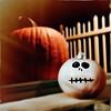 Look into my eyes... (Creepella Gruesome) Tags: iphone6splus hipstamatic halloween autumn fall pumpkins window squareformat spooky creepy phantasm