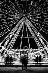 Fairground (victorgoarin) Tags: night fair nb nuit street urban christmas art couple love black white light